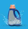 empty laundry detergent package design blue vector image