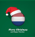 flag of netherlands merry christmas and happy new vector image