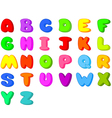 funny cartoon font letters from a to z vector image vector image