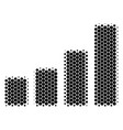 halftone dot bar chart icon vector image vector image