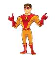 Handsome Superhero Regret vector image vector image