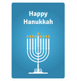 hanukkah card candle vector image