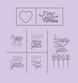 happy new year lettering card vector image vector image