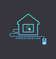 homeschooling online tuition remotely the vector image vector image