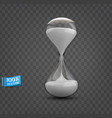 hourglass with transparent glass flask vector image