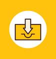 inbox icon sign symbol vector image