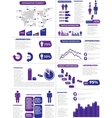 INFOGRAPHIC DEMOGRAPHICS NEW STYLE PURPLE vector image vector image