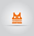 life jacket isolated orange icon vector image