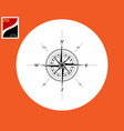 marine direction compass vector image vector image