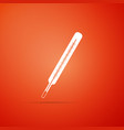 medical thermometer icon on orange background vector image