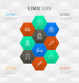 medicine outline icons set collection of pills vector image