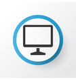 monitor icon symbol premium quality isolated vector image vector image