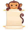 monkey with scroll vector image vector image