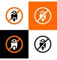no motorcycle sign city public signs no scooter vector image vector image