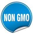 Non gmo round blue sticker isolated on white