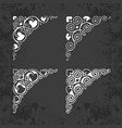 ornamental calligraphic corners on chalkboard vector image vector image