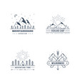 outdoor activities logo set vector image vector image