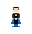 pixel people superhero avatar vector image
