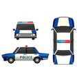 Police car in three different angles vector image vector image