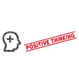positive thinking mosaic and scratched positive vector image vector image