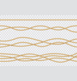 realistic rope set nautical textured cords close vector image