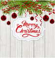 Red decorations and greeting inscription vector image vector image