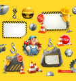 repair and under construction 3d icon set vector image vector image