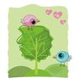 romantic birdies doodle vector image