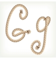 Rope alphabet Letter G vector image vector image