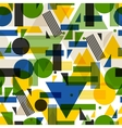 Seamless pattern in abstract geometric style vector image vector image