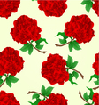 Seamless texture flowers red roses stem vector image vector image