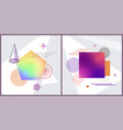 set of abstract poster on vector image
