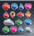 set of the different icons vector image vector image