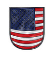 shield with flag united states of america in vector image vector image