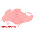 singapore map - mosaic of heart hearts vector image vector image