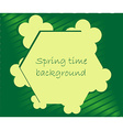 Spring season frame background vector image vector image