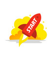start red rocket color the startup vector image vector image