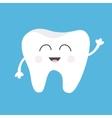 Tooth health icon Cute funny cartoon smiling vector image vector image