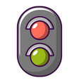 traffic light railway icon cartoon style vector image vector image