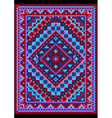 Vivid carpet old style in blue and purple shades vector image vector image