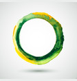 watercolor-ring-olive-yellow vector image vector image