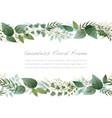 Watercolor seamless botanical frame