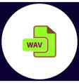 WAV computer symbol vector image vector image