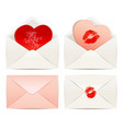 white envelope and hearts concept love vector image vector image