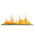 wildfire conceptual isolated vector image vector image