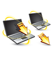 wireless laptop computers vector image vector image