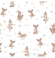 yoga dogs poses and exercises chihuahua seamless vector image vector image