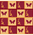 Background of abstract butterflies flying vector image