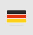 Germany flag stylized Flag German of geometrical vector image