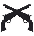 Old american handguns vector image